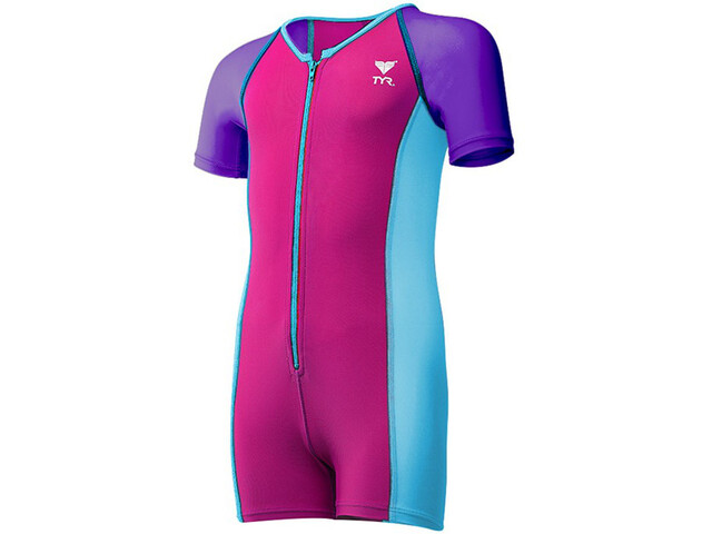 TYR Solid Bañador Niñas, purple/pink/blue